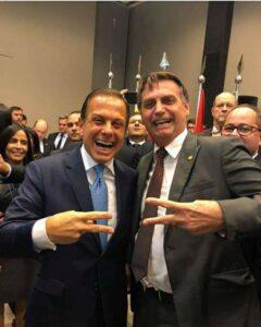 JOão Dória e Bolsonaro Juntos pré Eleição