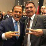 JOão Dória e Bolsonaro juntos