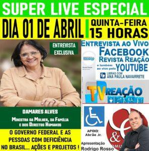 Dia 01 de Abril - Entrevista com Damares