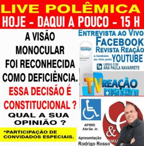 Banner da LIVE