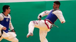 Treino da Seleção de parataekwondo no CT Paralímpico, no início de 2020