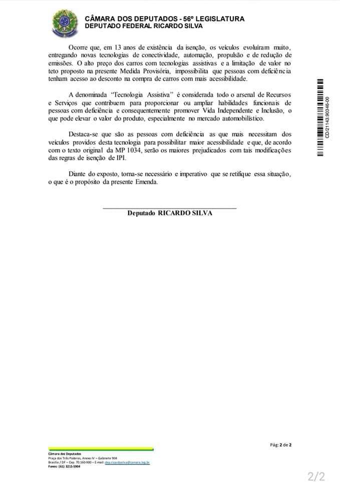 Emenda supressiva da MP do IPI