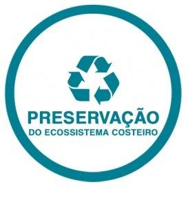 Ilustração preservação do ecossistema costeiro
