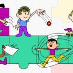 Ilustração crianças brincando