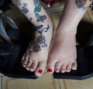 fotografia pés