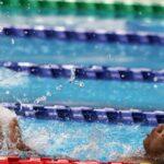 Gabriel Geraldo nada durante prova que conquistou a primeira medalha para o Brasil nos Jogos de Tóquio