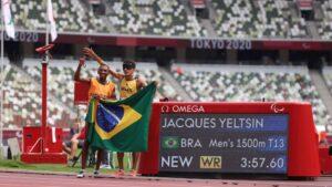 Yeltsin Jacques venceu os 1.500m (classe T11) e quebrou o recorde mundial