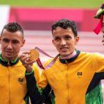 Cerimônia de premiação do Atletismo. Jogos Paralímpicos Tóquio 2020
