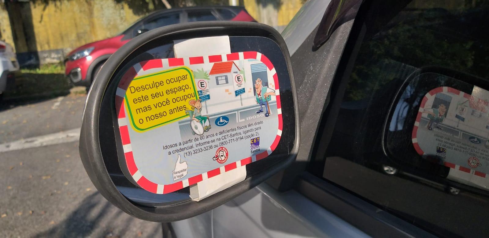 Campanha Respeitar é Legal alerta sobreuso de vagas especiais de estacionamento em Santos