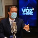 O presidente da Caixa Econômica Federal, Pedro Guimarães, participa do programa A Voz do Brasil