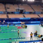 Primeiro treino da Seleção Brasileira da bocha no Ariake Gymmastics Centre, em Tóquio |
