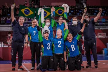 Brasil comemora classificação para as semfinais do goalball nas Paralimpíadas