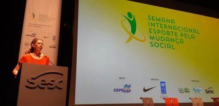 Ana Moser, na 5ª Semana Internacional do Esporte pela Mudança Social